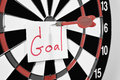 Dartboard for set goal concept Stock Photography