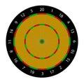 Dartboard target isolated on white Royalty Free Stock Photo
