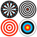 Dartboard and Target Set Royalty Free Stock Photo