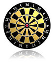 Dartboard vector illustration Stock Photos