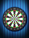 Dartboard on wall a blue background Royalty Free Stock Photos