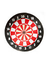 Dartboard on white Royalty Free Stock Photography