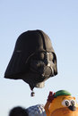 Darth vader a hot air balloon Stock Photography