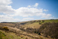 Dartmoor landscape picture of the national park in devon uk Stock Photography