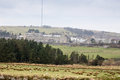 Dartmoor prison viewed across the fields distant view of princeton Royalty Free Stock Image