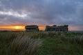 Dartmoor tor at sunset coombestone near venford reservoir national park devon Royalty Free Stock Images