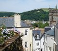 Dartmouth, Devon, Hillside Houses and Church Royalty Free Stock Photo