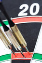 Darts. 180 points hit Royalty Free Stock Photo