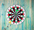 Darts Board with Twenty Black and White Sectors Royalty Free Stock Photo