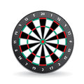 Darts board vector image isolated white Stock Photos