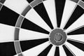 Darts bullseye target close up Royalty Free Stock Photo