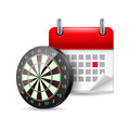 Darts and calendar Stock Image