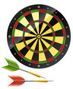 Darts with dart board game Royalty Free Stock Photo