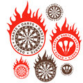 Darts isolated objects on white background vector illustration eps Royalty Free Stock Photo