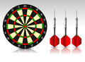 Darts red illustration background Stock Photo