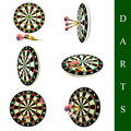 Darts set Royalty Free Stock Photo