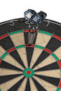Darts, successful hit Stock Image