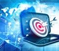 Darts on target digital illustration of Stock Photography