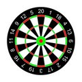 Darts on a white background. Royalty Free Stock Image