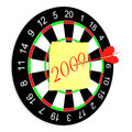 Darts on a white background. Stock Image