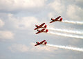 Das aerobatic team aeroshell Stockfoto