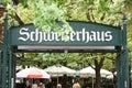 "The ""Schweizerhaus"" in the big amusement park `Prater` in Vienna, Austria, Europe Royalty Free Stock Photo"