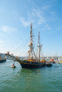 Das tres hombres kam in falmouth am april an Lizenzfreie Stockbilder