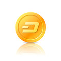 Dash coin symbol, icon, sign, emblem. Vector illustration.