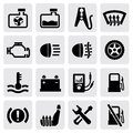 Dashboard and auto icons Stock Photography