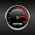 Dashboard background vector with speedometer and odometer n Royalty Free Stock Images
