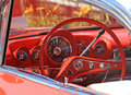 Dashboard of Classic car,left-hand drive Stock Photography