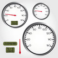 Dashboard dial Royalty Free Stock Photo