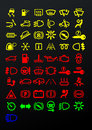 Dashboard icons vector illustration background Stock Photos