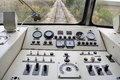 Dashboard rail the old diesel engine passenger train Stock Images