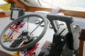 Dashboard of speed boat Royalty Free Stock Photo