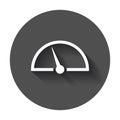 Dashboard vector icon. Level meter speed vector illustration