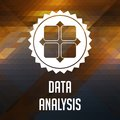 Data Analysis Concept on Triangle Background. Stock Photography