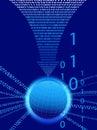 Data Background - Binary Code Technology Stream Royalty Free Stock Photo