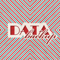Data backup concept on striped background red and blue vintage in flat design Stock Photography