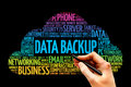 Data backup word cloud concept Royalty Free Stock Photos