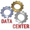 Data center technology network it symbol with clipping path Stock Photos