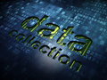 Data concept: Data Collection on digital screen Royalty Free Stock Photography