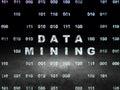 Data concept: Data Mining in grunge dark room