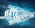 Data encryption background word cloud concept illustration which can be used for brochures infographics web design etc Royalty Free Stock Photo