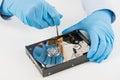 Data hard drive backup disc hdd disk restoration Royalty Free Stock Photo