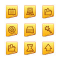 Data icons Royalty Free Stock Images