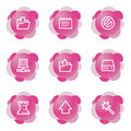 Data icons, pink flower series Royalty Free Stock Photo