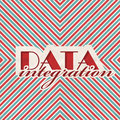 Data Integration Concept on Striped Background. Stock Images