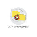 Data Management Content Marketing Icon