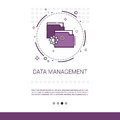 Data Management Content Marketing Web Banner With Copy Space